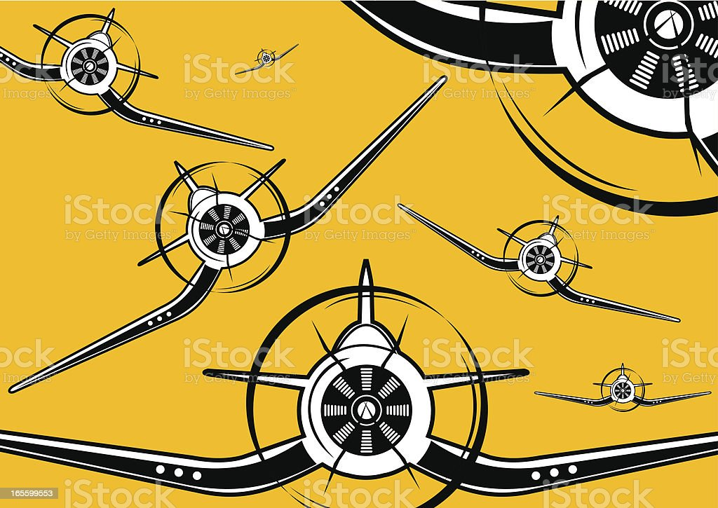 P4U squadron royalty-free stock vector art