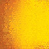 Square abstract triangles geometric background - Orange, Yellow.