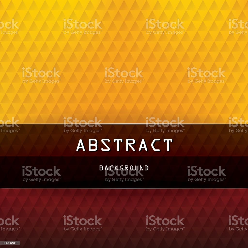 Square abstract triangles geometric background - Red, Orange, Yellow, Brown, Black vector art illustration
