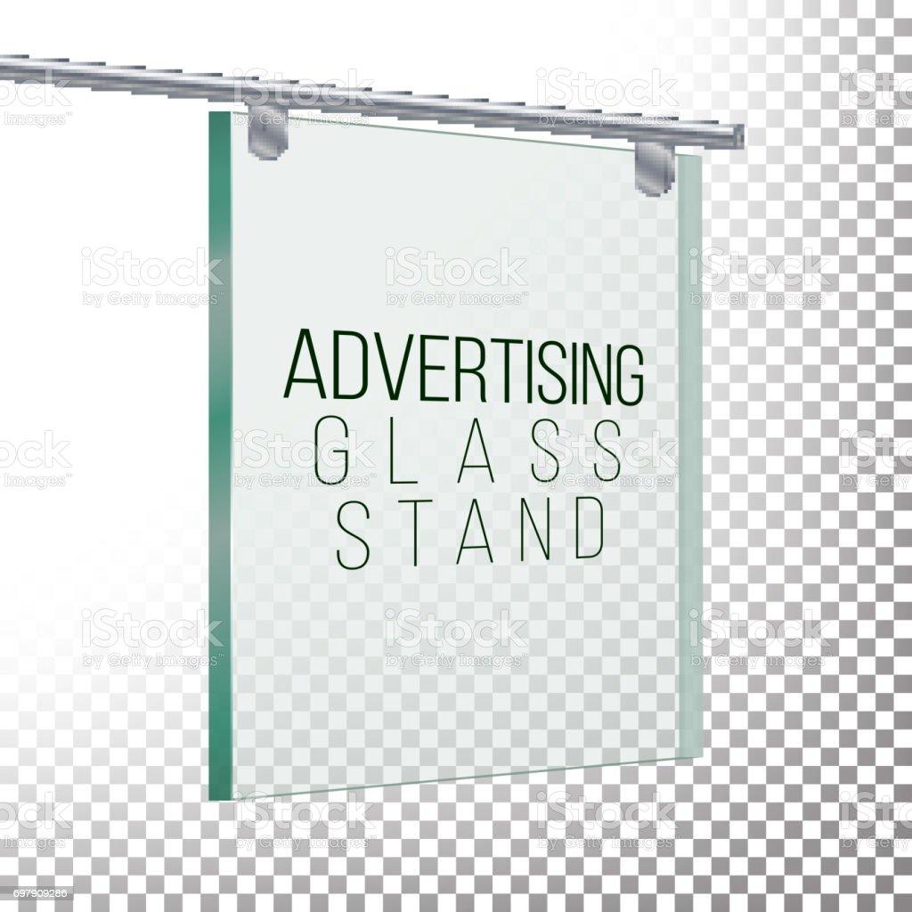 Quadratische Glasplatte Werbung Realistische 3d Vektorillustration ...