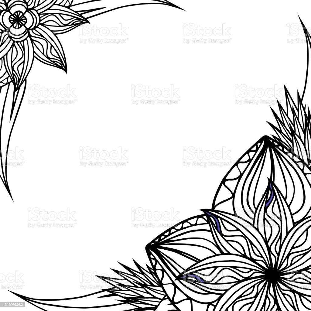 Черно белые рамки для открытки с