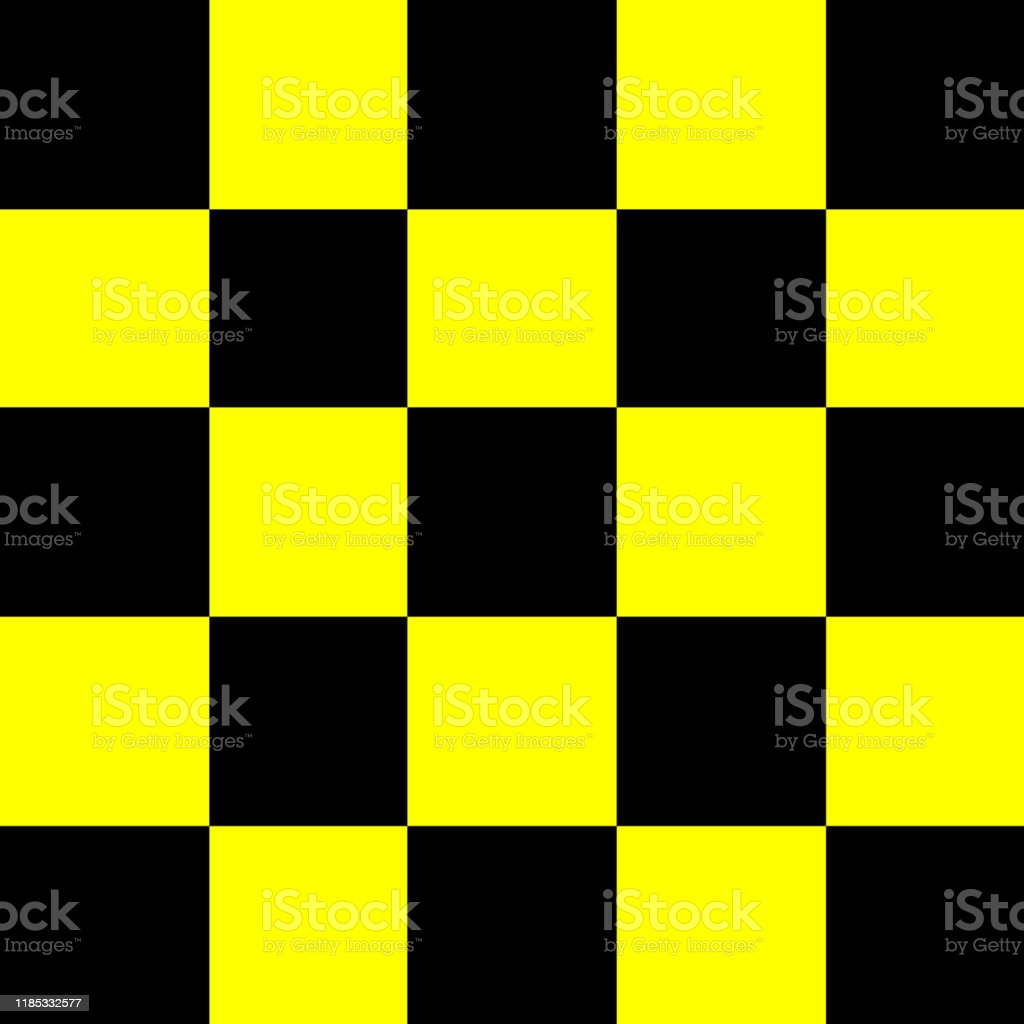 Square Black And Yellow For Background Seamless Checker Yellow And
