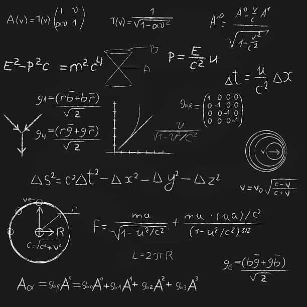 square tafel mit equations. - buchstabenschreibweise stock-grafiken, -clipart, -cartoons und -symbole