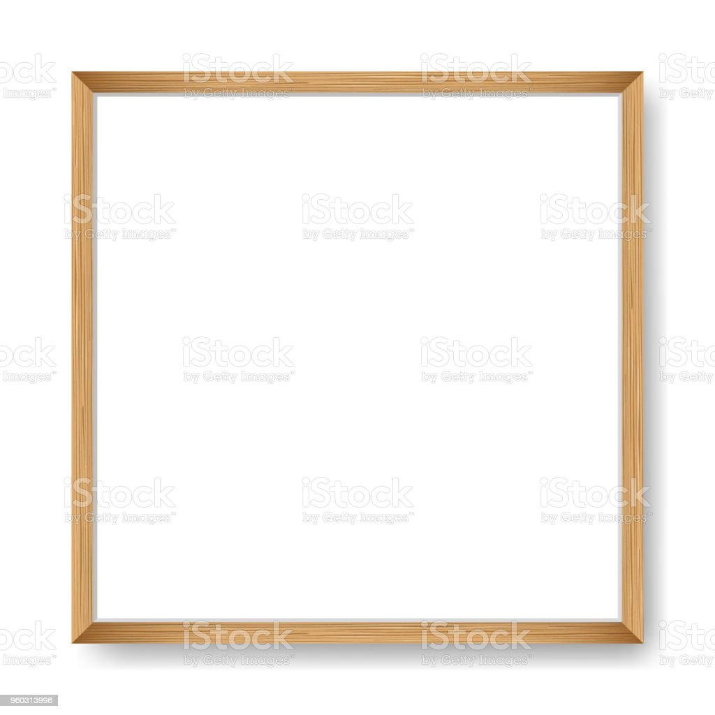 Square blank picture frame. Vector template vector art illustration