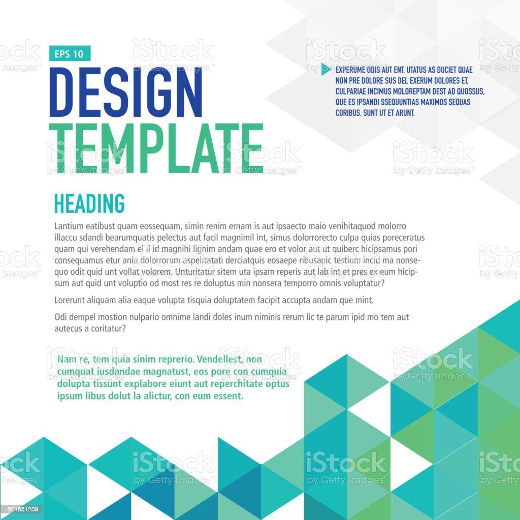 m blue presentation template mit beispieltext layout vektor, Presentation templates