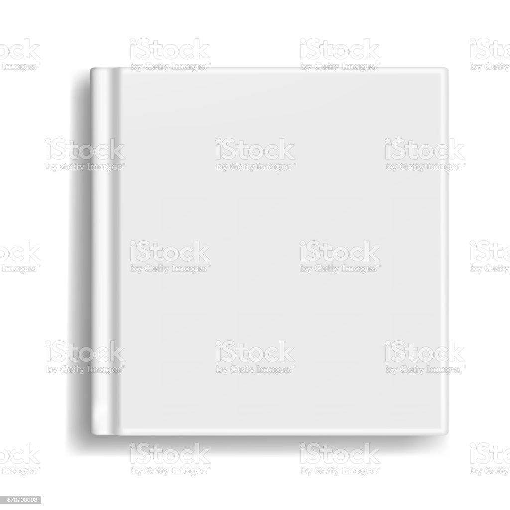 正方形の本主催者または写真集の表紙のテンプレート からっぽの