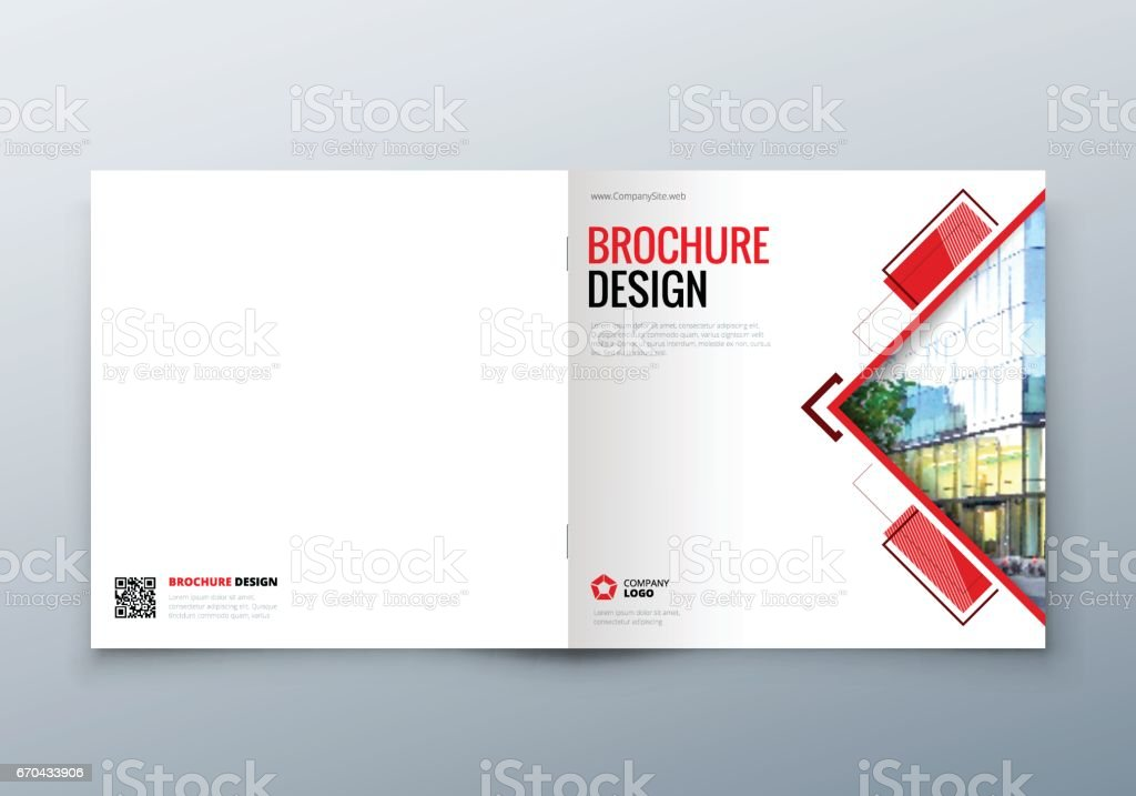 Square Brochure Design Corporate Business Template For Rectangle
