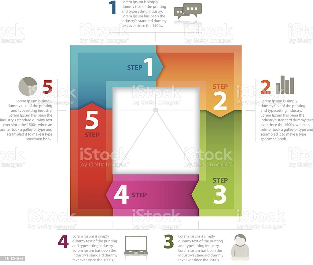 Square business plan royalty-free stock vector art