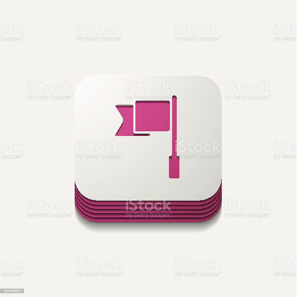 square button: flag royalty-free stock vector art