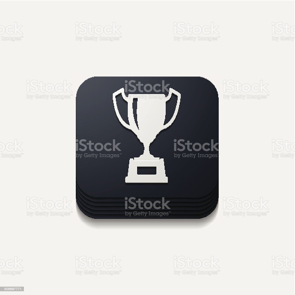 square button: winner royalty-free stock vector art