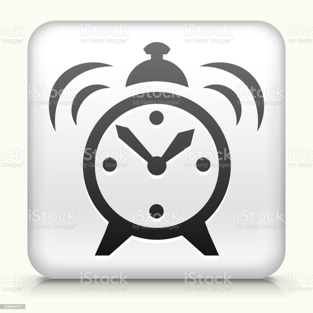 Square Button with Alarm Clock royalty free vector art royalty-free square button with alarm clock royalty free vector art stock vector art & more images of alarm clock