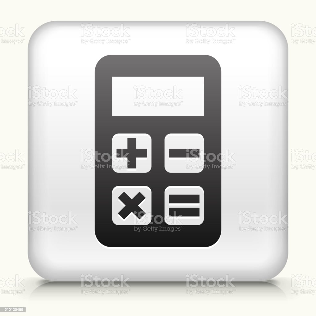 Square Button with Calculator royalty free vector art vector art illustration