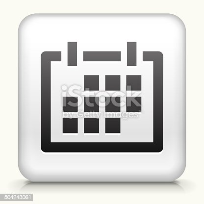 istock Square Button with Calendar royalty free vector art 504243061