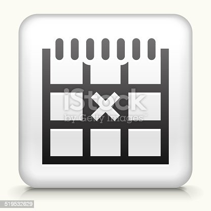 istock Square Button with Calendar royalty free vector art 519532629