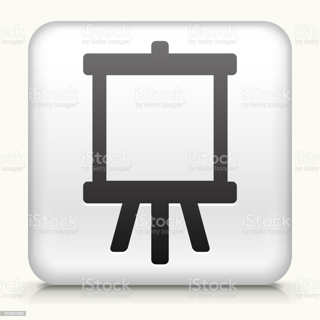 Square Button with Canvas royalty free vector art vector art illustration