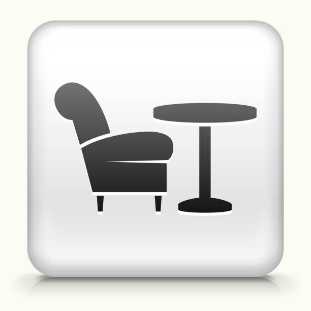 Clip Art Coffee Table: Top Coffee Table On White Clip Art, Vector Graphics And