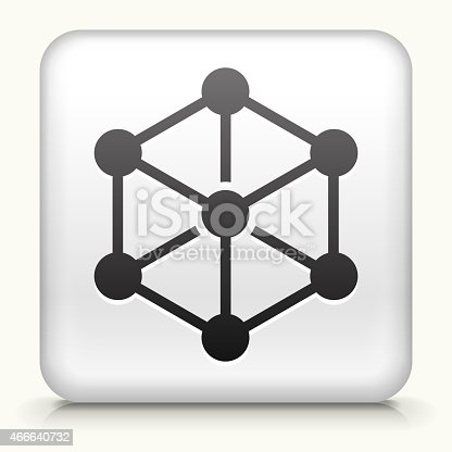 White Square Button vector icon. The icon is on a simple white background, It's a 100% vector file and can be easily modified, used separately or as part of an icon set.