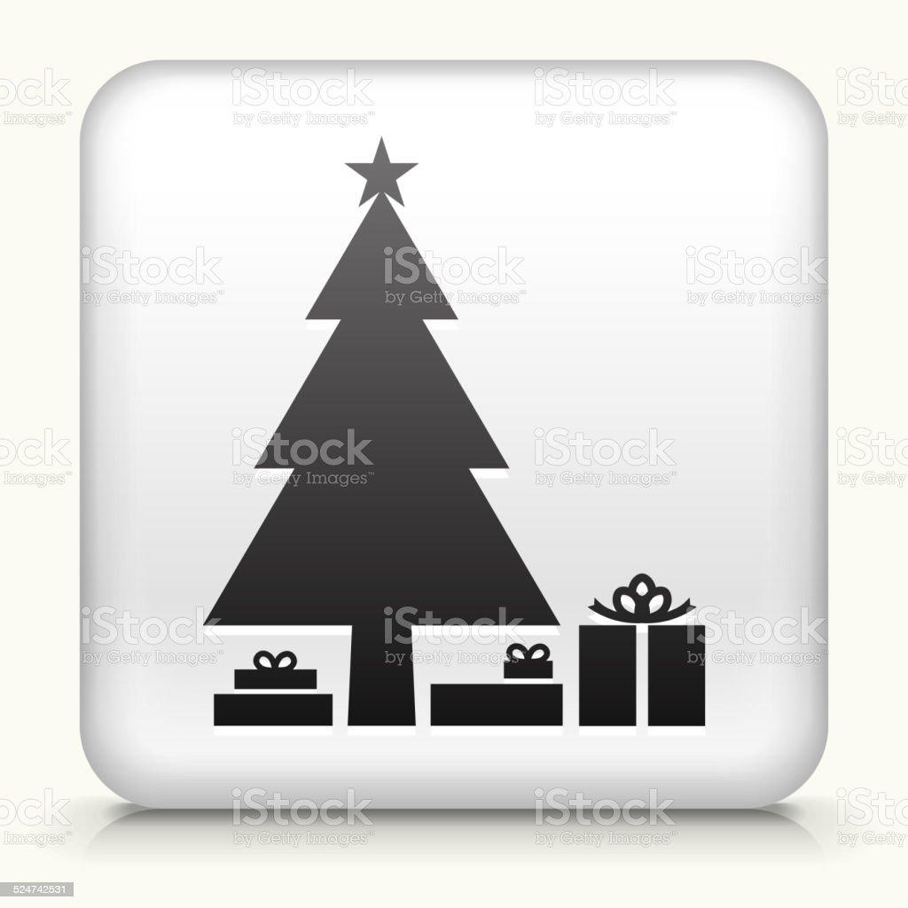 Weihnachten Lizenzfreie Bilder.Square Knopf Mit Weihnachten Baum Lizenzfreie Vektorgrafiken Stock