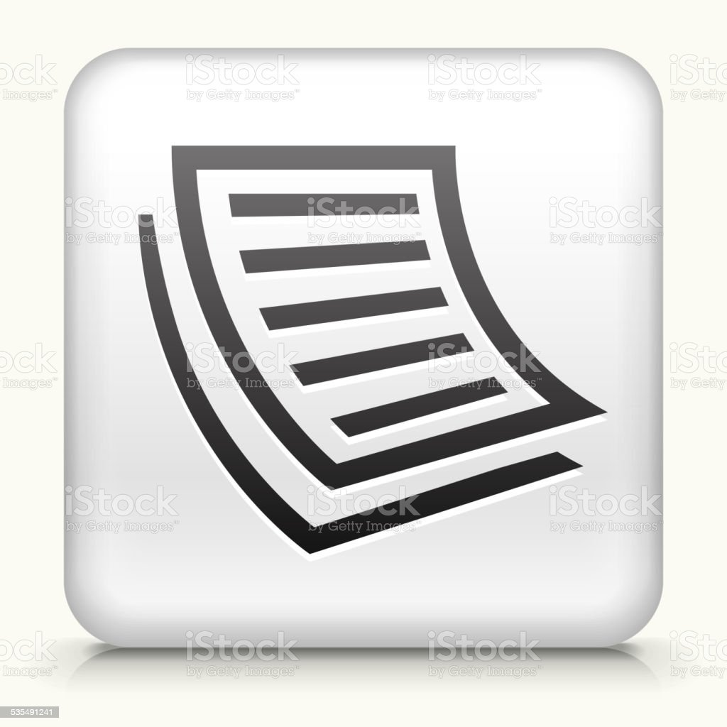 Square Button with Documents vector art illustration
