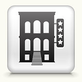 Square Button with Five Star Hotel royalty free vector art