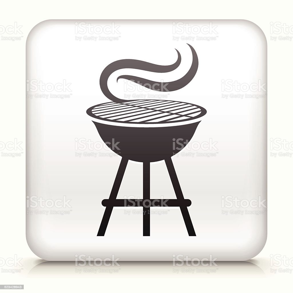 Square Button with Grill royalty free vector art vector art illustration