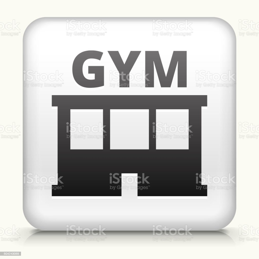 Square Button with Gym royalty free vector art royalty-free square button with gym royalty free vector art stock vector art & more images of exercising