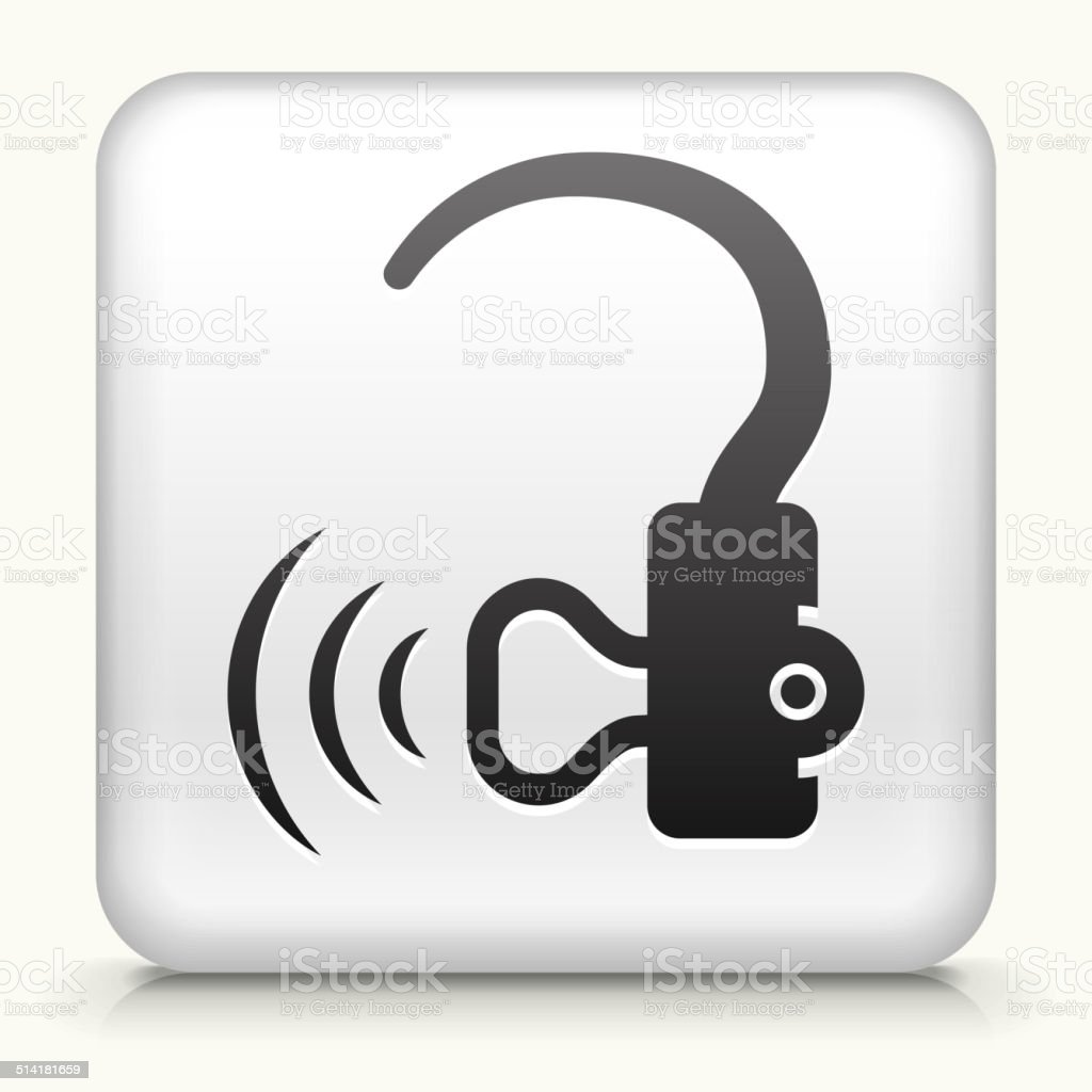 Square Button With Hearing Aid Stock Vector Art 514181659 Istock