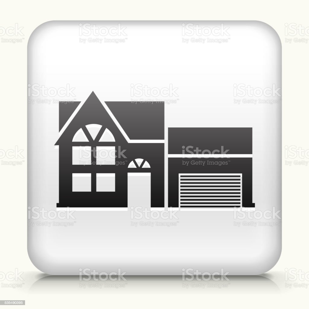 Square Button with Home royalty free vector art vector art illustration