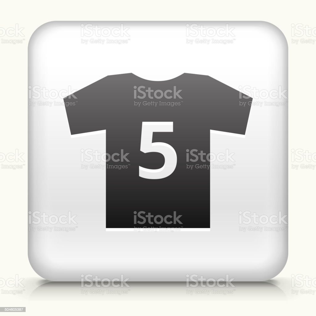 Square Button with Jersey royalty free vector art royalty-free stock vector art