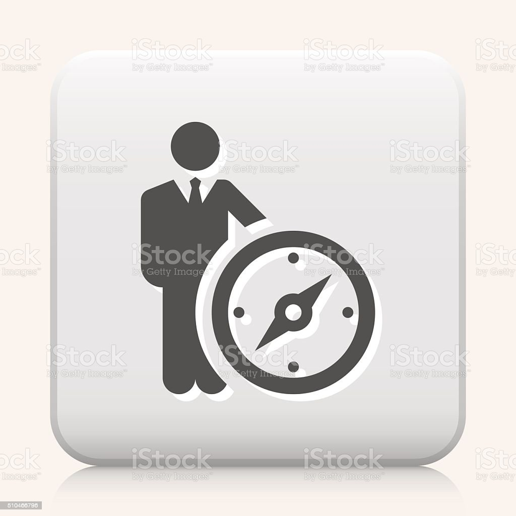 Square Button with Leader vector icon graphic vector art illustration