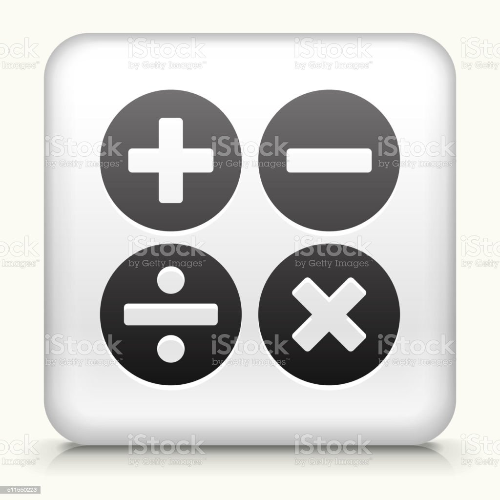 Square Button With Math Symbols Stock Vector Art More Images Of
