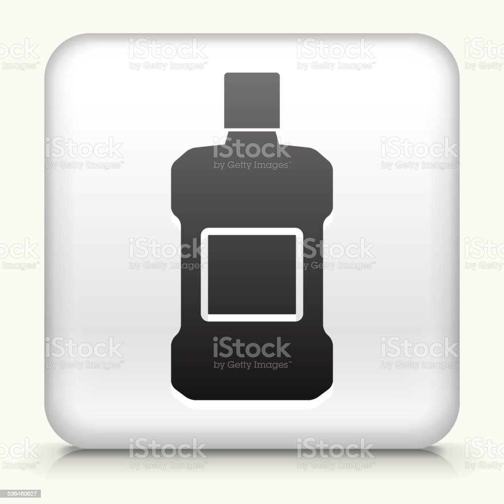 Square Button with Mouthwash royalty free vector art vector art illustration