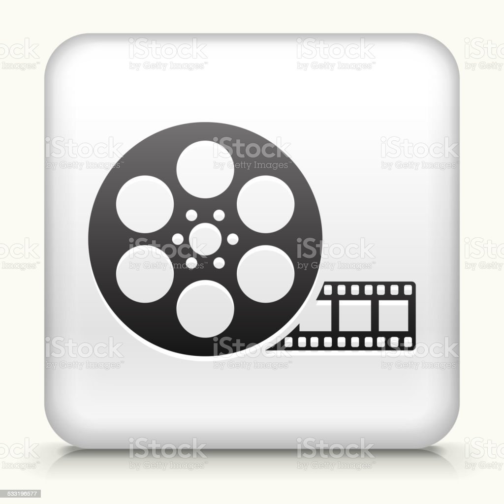 Square Button With Movie Reel Royalty Free Vector Art Stock Vector