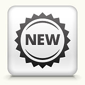 Square Button with New royalty free vector art