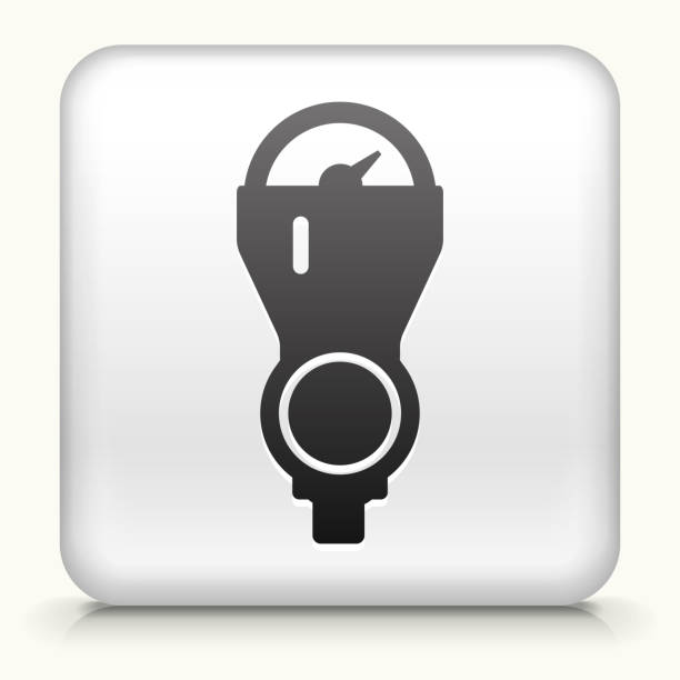 Square Button With Parking Meter Stock Vector Art 466057994 Istock