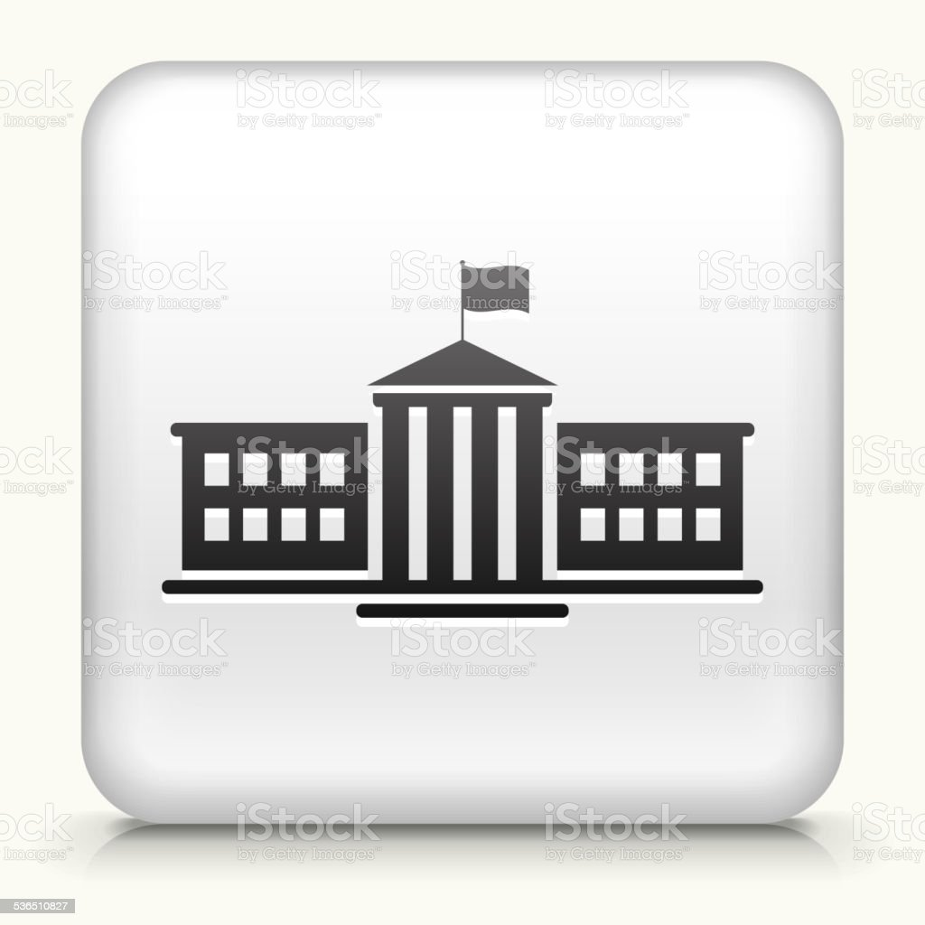 Square Button with school royalty free vector art vector art illustration