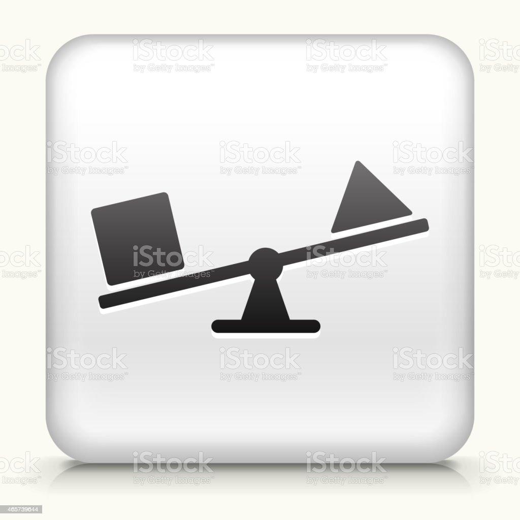Square Button with Shapes & Teeter-Totter royalty free vector art
