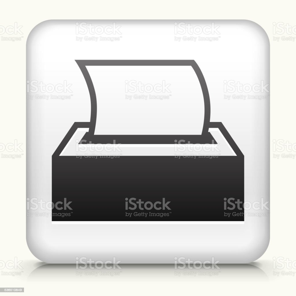 Square Button with Tissue royalty free vector art vector art illustration