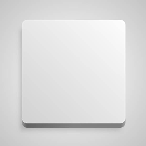 方形按鈕白色背景藝術。 - bar 幅插畫檔、美工圖案、卡通及圖標