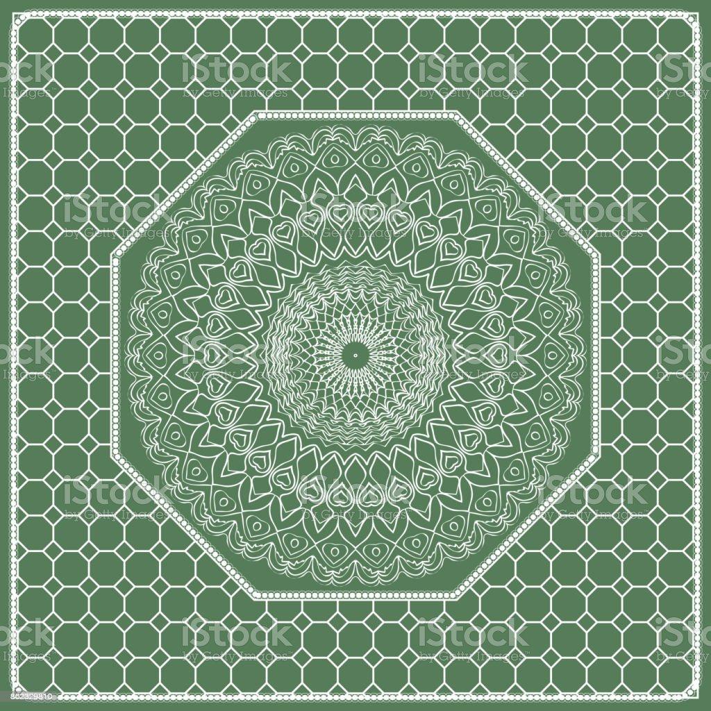 Ilustración de Composición Cuadrada En Patrón De Encaje Geométrico ...