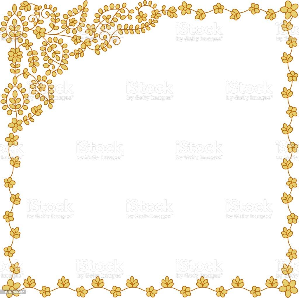 Ilustración de Marco Cuadrado Floral Estilo Tailandés Patrones Para ...
