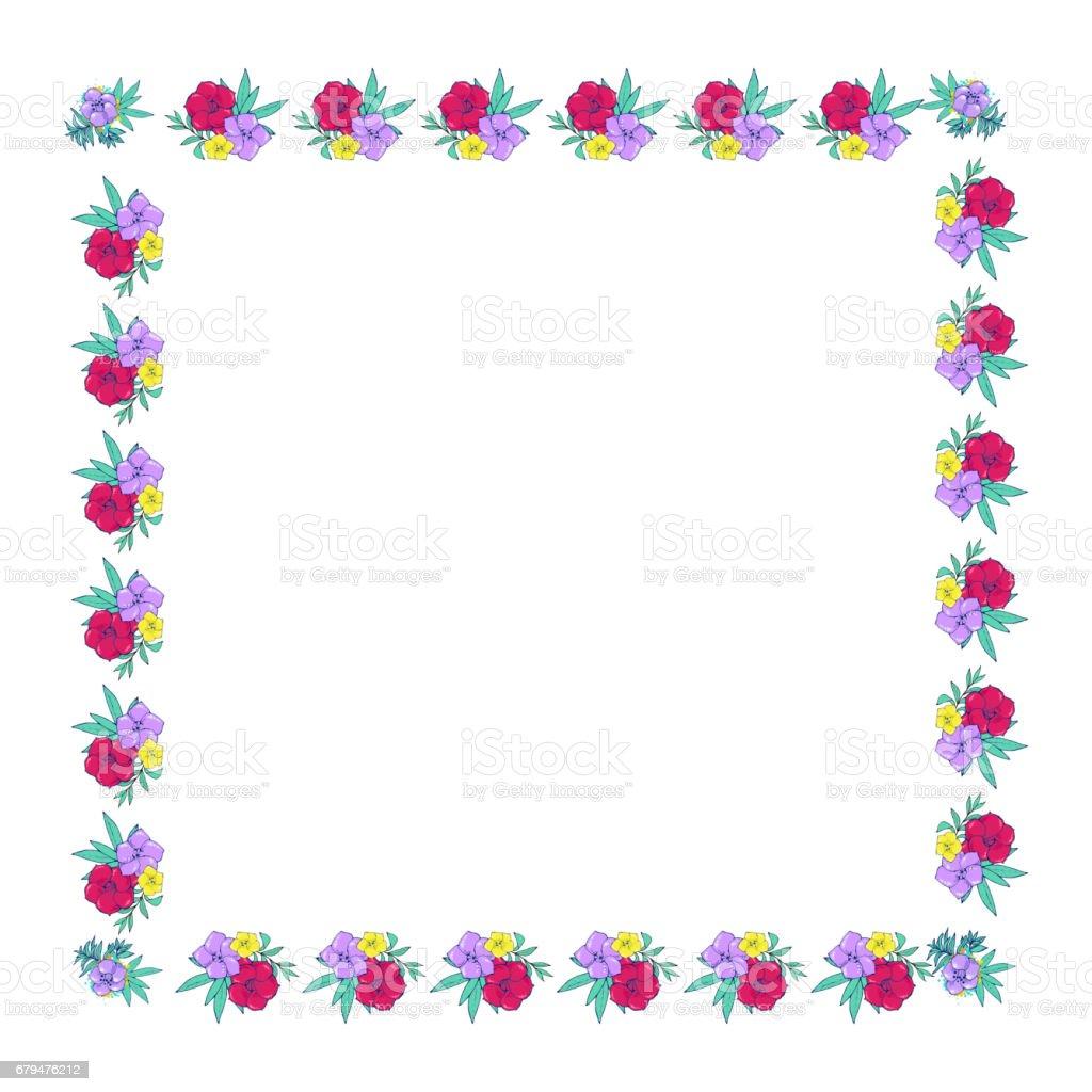 Square floral frame 免版稅 square floral frame 向量插圖及更多 創作性 圖片