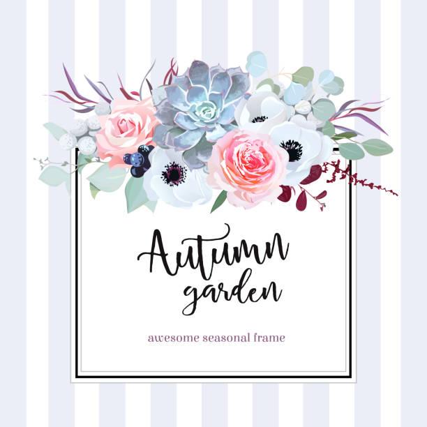 Tarjeta de diseño cuadrado floral vector - ilustración de arte vectorial