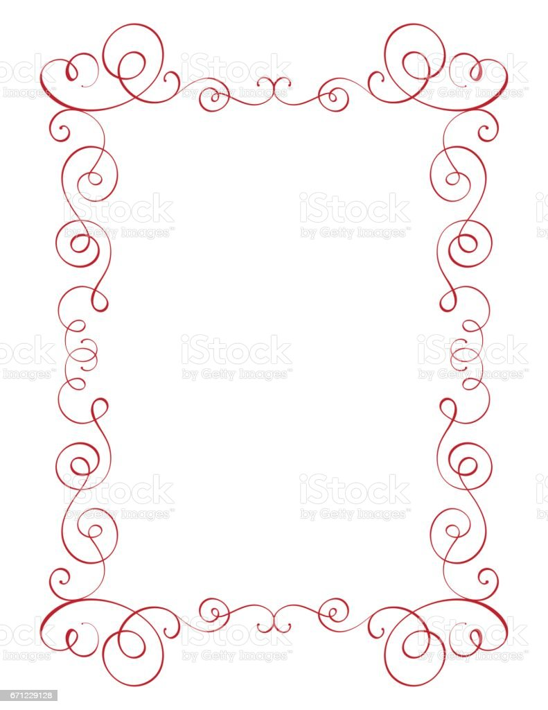 正方形の繁栄書道ビンテージ フレームイラスト ベクター手書き eps 10