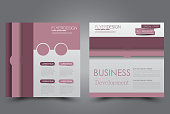 Square flyer template. Brochure design.
