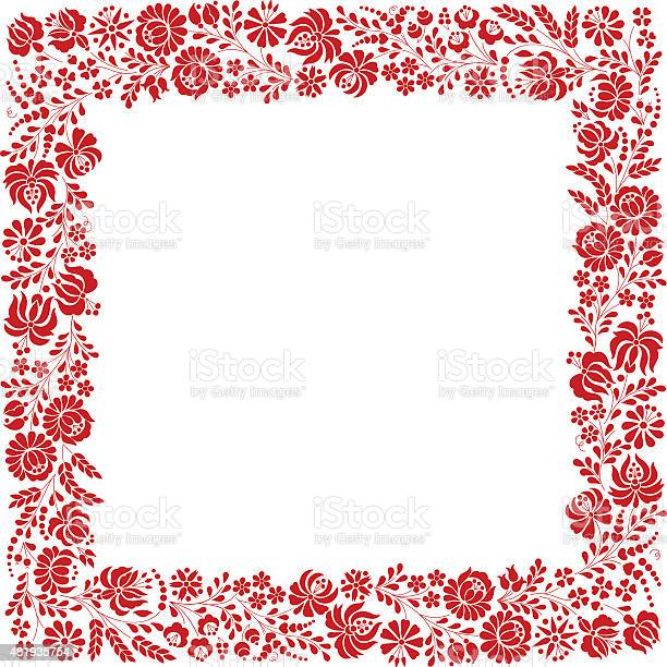 Square frame made from hungarian embroidery pattern vector id481935754?b=1&k=6&m=481935754&s=612x612&h=iccgp 2oipwubyoxsjbbpxuu5 rtna9ug nu0xbovju=