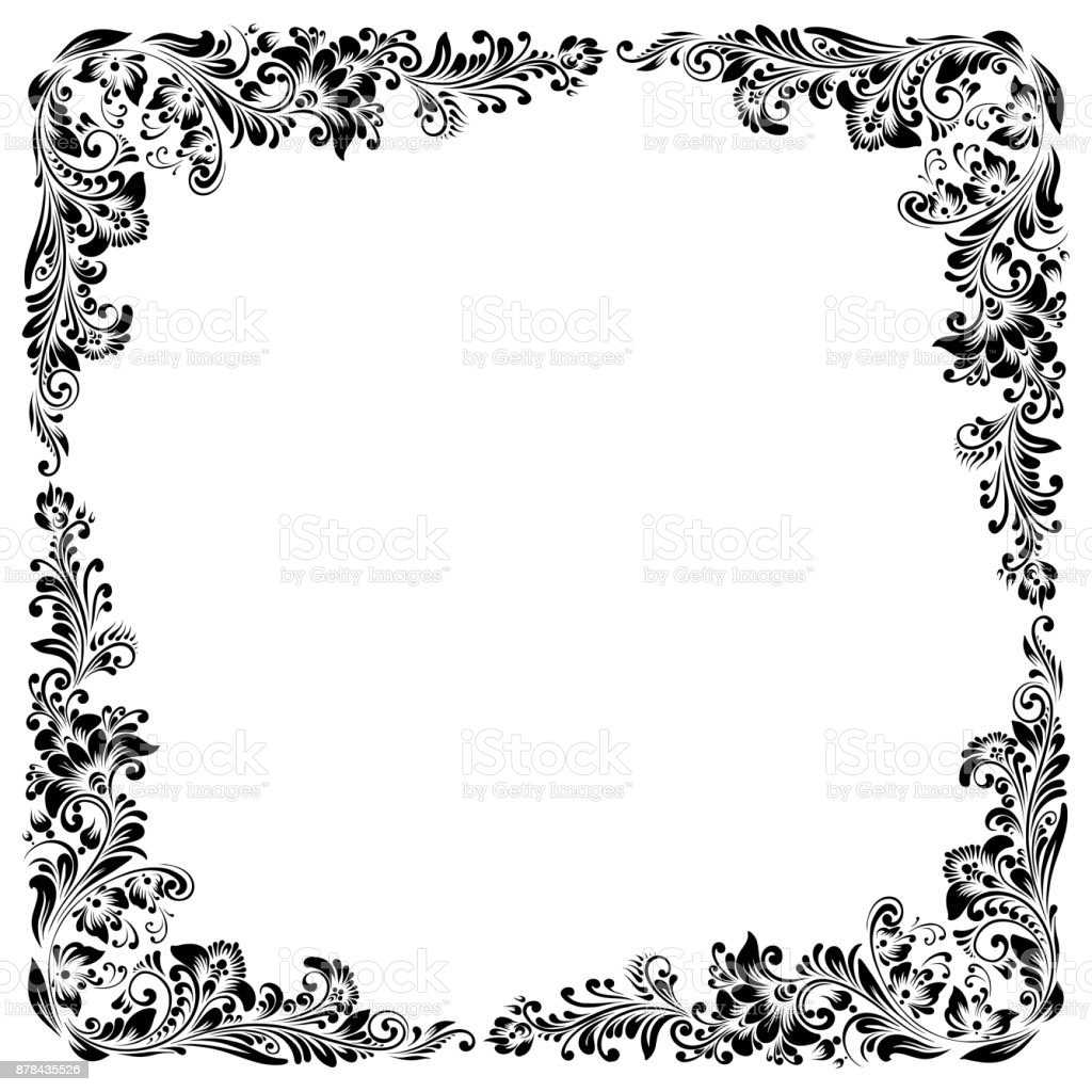 square  frame vector art illustration
