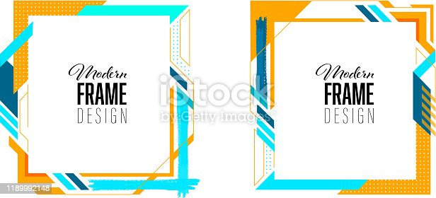 modern colorful frame template