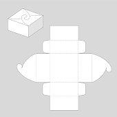Square Gift Paper Box Graphic Template