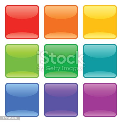 Glossy Buttons In Nine Colors.